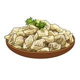 Dumplings on a platter Stock Photography