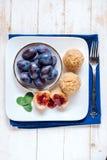 Dumplings with plums Stock Photos