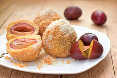 Dumplings with plums Royalty Free Stock Photo