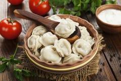 Dumplings in the pot Stock Images