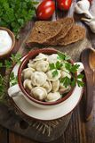 Dumplings in the pot royalty free stock images
