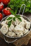 Dumplings in the pot stock photography