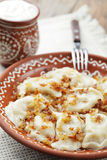 Dumplings with potato Stock Image