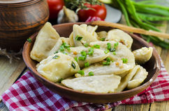 Dumplings with potatoes and cabbage meat Royalty Free Stock Photography