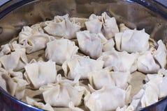 Dumplings during prepare Royalty Free Stock Photo