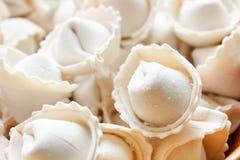 Dumplings or ravioli frozen bowl Stock Photo