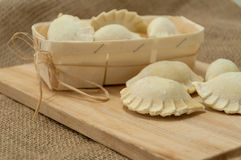 Dumplings raw homemade Royalty Free Stock Images