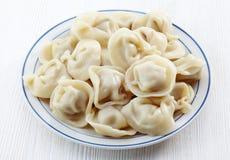 Dumplings russian pelmeni Stock Images