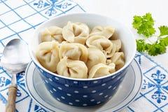 Dumplings russian pelmeni Royalty Free Stock Photos