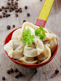 Dumplings russian pelmeni Royalty Free Stock Photos