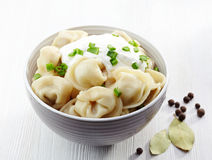 Dumplings russian pelmeni Royalty Free Stock Photography