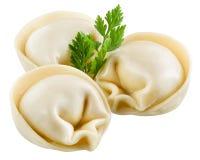 Dumplings - russian pelmeni - italian ravioli Royalty Free Stock Image