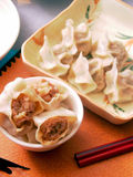 Dumplings and Seasoning Royalty Free Stock Images