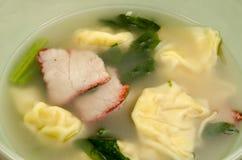 Dumplings soup Royalty Free Stock Photos
