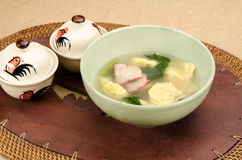 Dumplings soup Royalty Free Stock Photo