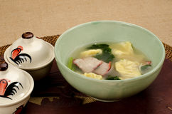 Dumplings soup Stock Photo