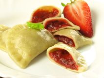 Dumplings with strawberry filling Royalty Free Stock Image