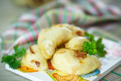 Dumplings stuffed with Stock Image