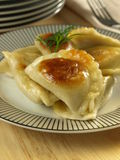 Dumplings with stuffing. Closeup Stock Photography