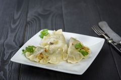 Dumplings - traditional Polish dish Royalty Free Stock Photo