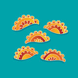 Dumplings vector sketch Royalty Free Stock Photos