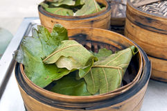 Dumplings wrapped the leaves Royalty Free Stock Image