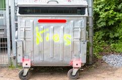 dumpster fotografia stock