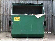 Dumpster. Simply plain dumpster royalty free stock photos