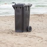 Dumpster on a beach Royalty Free Stock Photo