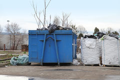 Dumpster recycling Royalty Free Stock Image