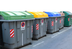 Dumpster for recycling Stock Images