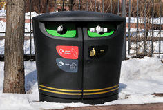Dumpster for separate waste collection Stock Photos