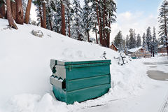 Dumpster in the Snow Stock Photos