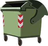 dumpster urban waste Stock Photography