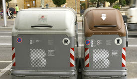 Dumpsters in Barcelona Royalty Free Stock Photo