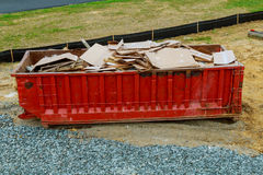 Dumpsters being full with garbage Royalty Free Stock Images