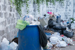 Dumpsters being full with garbage Royalty Free Stock Photo