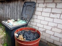 Dumpsters Royalty Free Stock Photography