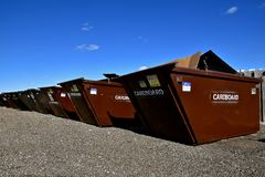 Dumpsters for recycling Stock Images