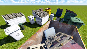 Dumpsters and skips Royalty Free Stock Photos