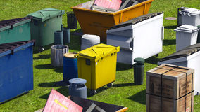 Dumpsters and skips Stock Images