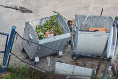 Dumpsters on the street Stock Images