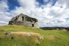 Dun Carloway Broch, Eiland van Lewis, Buitenhebrides Royalty-vrije Stock Foto's
