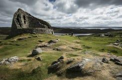 Dun Carloway Broch, Eiland van Lewis, Buitenhebrides royalty-vrije stock foto