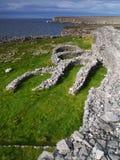 Dun Dubchatair Fort, Inishmore lizenzfreie stockbilder