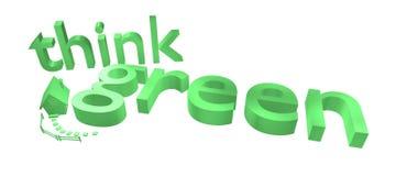 Dun groen teken met huis Royalty-vrije Stock Fotografie