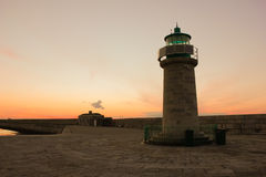 Dun Laoghaire lighthouse Royalty Free Stock Photos