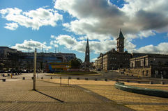 Dun Laoghaire. Town Center at South Dublin City stock photo