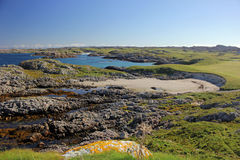 Dun Morbhaidh, Eiland van Coll Royalty-vrije Stock Afbeelding