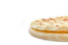 Dun Pizza met Bacon en Kaas royalty-vrije stock afbeeldingen